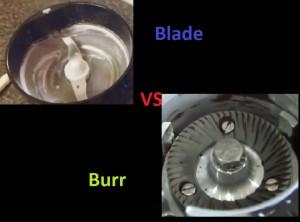 Blade grinder vs burr grinder